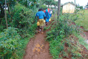 The Water Project: Kitagwa Primary School -  Pupils Go To Fetch Water