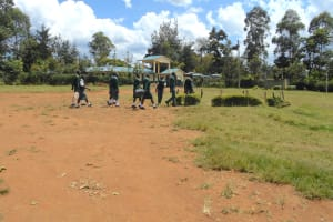 The Water Project: Friends School Manguliro Secondary -  Students Head To The Well