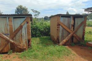The Water Project: Saosi Primary School -  Abandoned Toilets Due To Poor State