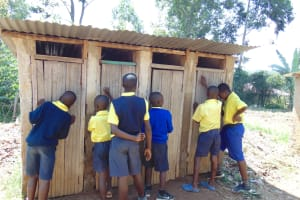 The Water Project: Jimarani Primary School -  Boys At Their Latrines