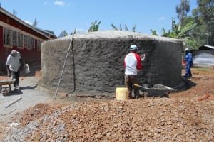 The Water Project: Ebukhuliti Primary School -  Cement Work Continues