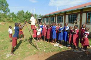 The Water Project: Mulwanda Mixed Primary School -  Learning Safe Ladder Use