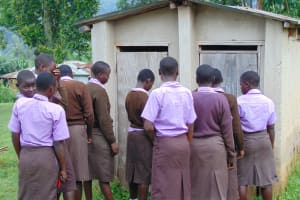 The Water Project: Friends Musiri Secondary School -  Girls Wait In Line For The Toilet