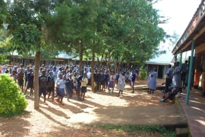 The Water Project: St. Martin's Primary School -  Students Outside Class