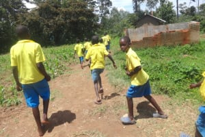 The Water Project: Isikhi Primary School -  The Gents Running To The Latrines