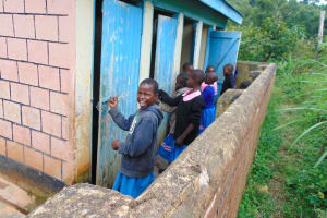 The Water Project: St. Joakim Buyangu Primary School -  Girls In Line For Latrines