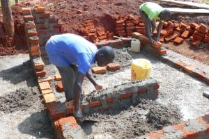 The Water Project: Ebukhuliti Primary School -  Latrine Foundation And Brickwork