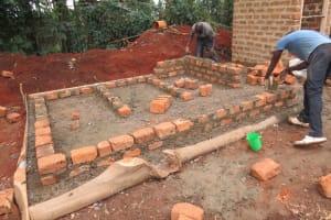 The Water Project: St. Joseph's Lusumu Primary School -  Latrine Brick Work