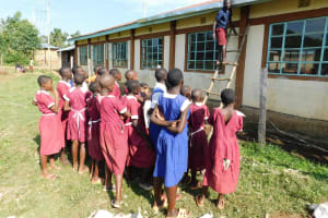 The Water Project: Mulwanda Mixed Primary School -  Learning How To Inspect The Gutters