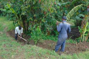 The Water Project: Buyangu Community, Mukhola Spring -  Cut Off Drainage