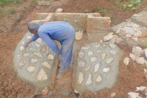 The Water Project: Busichula Community, Marko Spring -  Cementing The Rub Walls