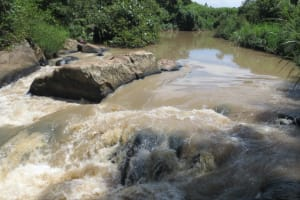 The Water Project: Mwikhupo Primary School -  Dirty Water Source The River Lusumu