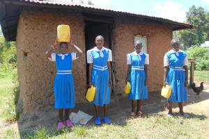 The Water Project: Gimarakwa Primary School -  Students Deliver Water To The Kitchen