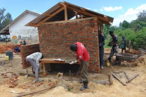 The Water Project: Mukama Primary School -  Latrine Construction