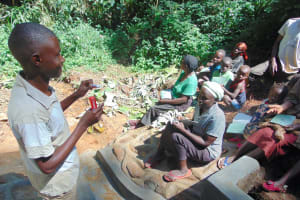The Water Project: Kisasi Community, Edward Sabwa Spring -  Trainer Amos Misiko Leads Dental Hygiene Training