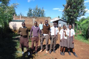 The Water Project: Kitagwa Secondary School -  Students At The School Entrance