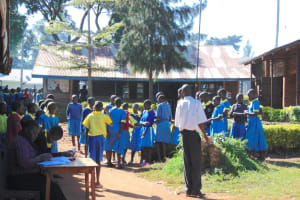 The Water Project: Gimomoi Primary School -  Students Assemble On The Parade Grounds