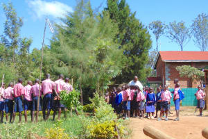 The Water Project: Gimengwa Primary School -  Students At Morning Assembly
