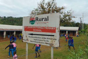 The Water Project: St. Joakim Buyangu Primary School -  School Signpost