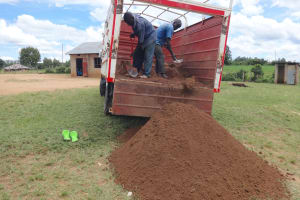 The Water Project: Mwichina Primary School -  Materials Delivery