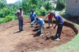 The Water Project: Kipchorwa Primary School -  Excavation