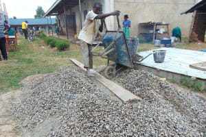 The Water Project: Ebukhayi Primary School -  Delivering Concrete Materials