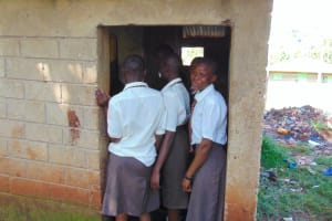 The Water Project: Kitagwa Secondary School -  Girls Crowd At Their Latrines
