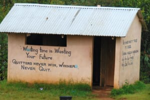 The Water Project: Friends Musiri Secondary School -  Inspirational Messages On Boys Latrines