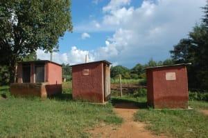 The Water Project: St. Martin's Primary School -  Girls Latrine Blocks