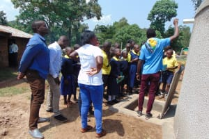 The Water Project: Kosiage Primary School -  Students Learn About The Rain Tank
