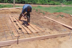 The Water Project: Kipchorwa Primary School -  Building Latrine Foundation