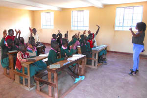 The Water Project: Ebukhayi Primary School -  Lots Of Participation At Training