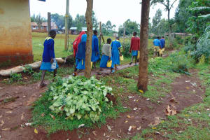 The Water Project: Kitagwa Primary School -  Students Carrying Water