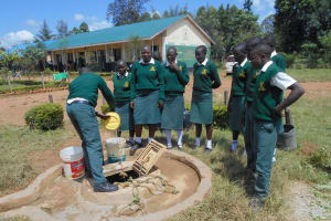 The Water Project: Friends School Manguliro Secondary -  Students Fetching Water
