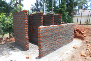 The Water Project: Ebukhuliti Primary School -  Latrine Stalls Take Shape