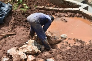 The Water Project: Busichula Community, Marko Spring -  Artisan Backfills The Spring Box