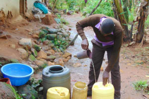 The Water Project: Friends Musiri Secondary School -  Student Collects Water At Home