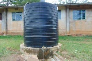The Water Project: St. Joakim Buyangu Primary School -  Small Plastic Rain Tank