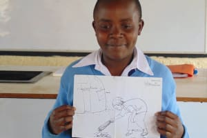 The Water Project: Kamimei Secondary School -  A Student Presents A Topic