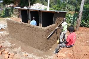 The Water Project: Ebukhuliti Primary School -  Latrine Construction