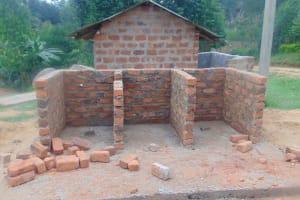 The Water Project: Kipchorwa Primary School -  New Latrine Stalls Begin