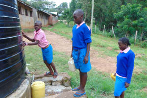 The Water Project: St. Joakim Buyangu Primary School -  Pupils Fetching Water