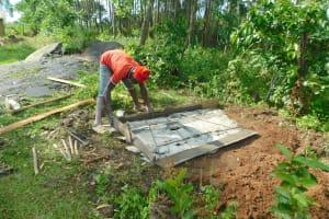 The Water Project: Imbinga Community, Imbinga Spring -  Casting A Sanitation Platform