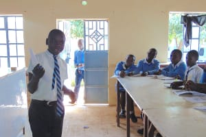 The Water Project: Kamimei Secondary School -  Pupil Presents A Topic