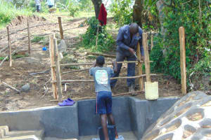 The Water Project: Buyangu Community, Mukhola Spring -  Fencing