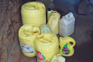 The Water Project: Kapsegeli KAG Primary School -  Water Storage Containers In The Kitchen