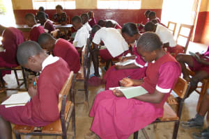The Water Project: Ebukhuliti Primary School -  Students Taking Notes