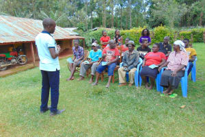 The Water Project: Jivovoli Community, Magumba Spring -  Trainer Victor Kicks Off Training Begins