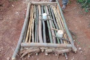 The Water Project: Shivembe Community, Murumbi Spring -  Form To Cast Sanitation Platform