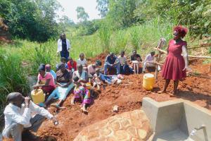 The Water Project: Shikhombero Community, Atondola Spring -  Trainer Laodia On Site Management